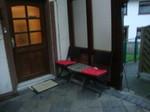 Terasse Eingangsbereich Monteurzimmer Windeck