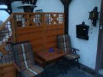 Überdachte Terrasse Monteurzimmer Windeck